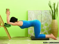 Chair Pose (Utkatasana) can help you build strength in your glute muscles.