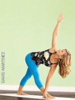 yoga poses  parivrtta trikonasana revolved triangle