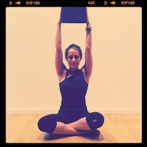 yoga challenge pose grasshopper pose  arm balance