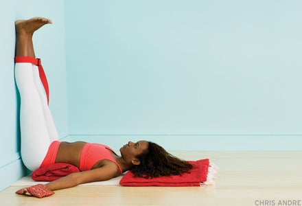 Relieve Stress with Legs-Up-the-Wall Pose (Viparita Karani)