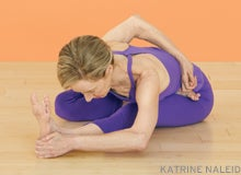 get grounded and practice balance in half moon pose arda