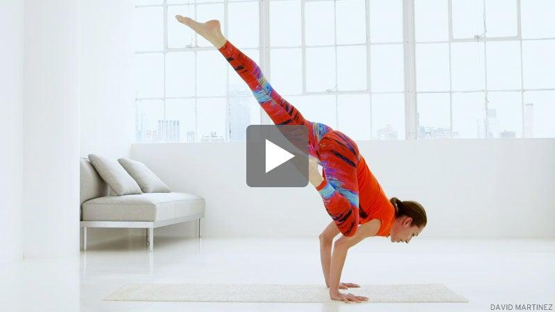 Watch Tara Stiles Prep for Flying Crow Pose