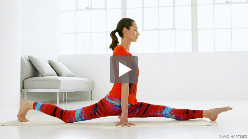 watch tara stiles prep for the splits  hanumanasana yoga