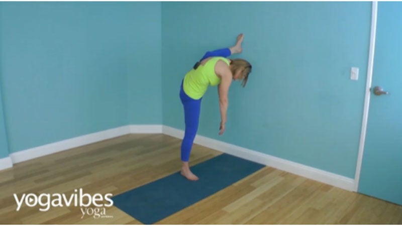 Bird of Paradise Variation: Use the Wall for this Standing Pose