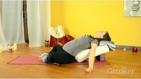 Supported Reclined Goddess Pose: Prenatal Yoga How-To