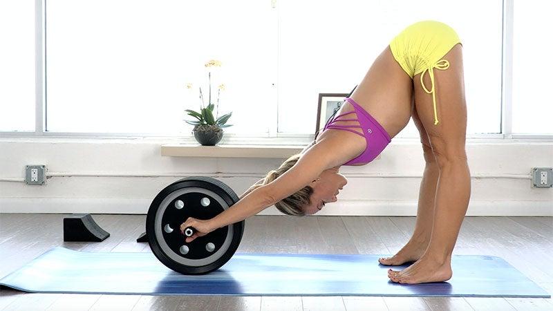 Kino MacGregor's Pre-Practice Core Work with the Yoga Pro Wheel