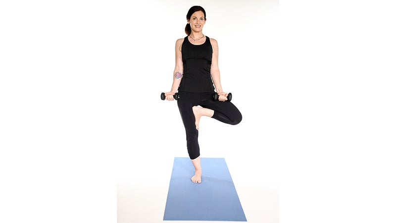 Yoga + Weights: Strengthen Your Core in Tree Pose