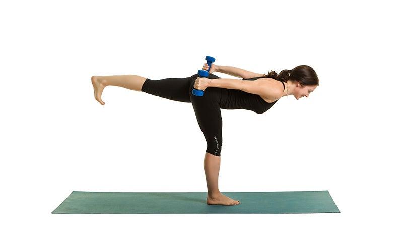 Yoga + Weights: Build Whole-Body Strength in Warrior III