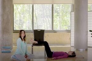 Create Instant Calm with This Legs-Up-the-Chair Pose