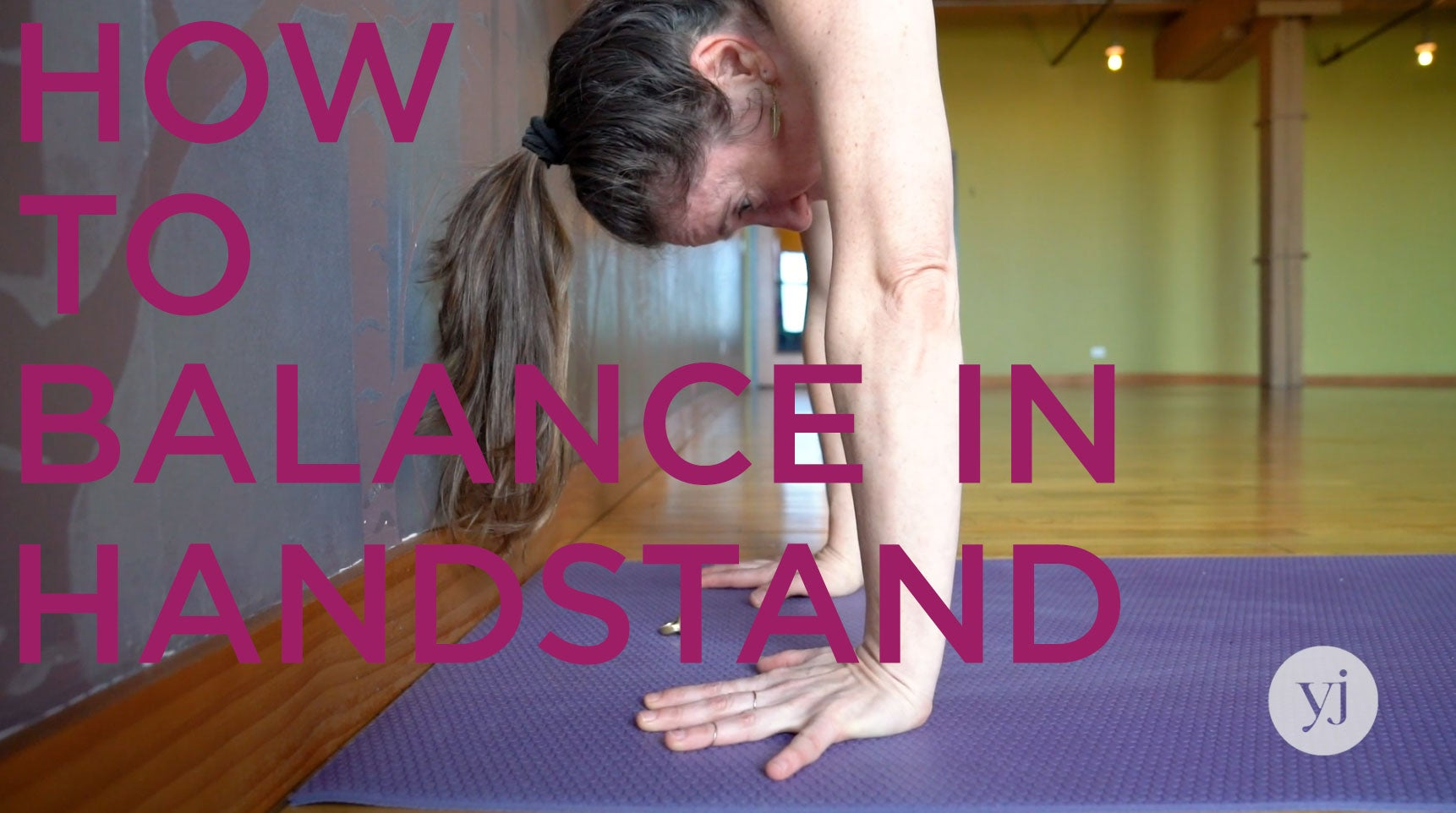 Claire Mark's Handstand Balancing Tip Will Forever Change How You Invert