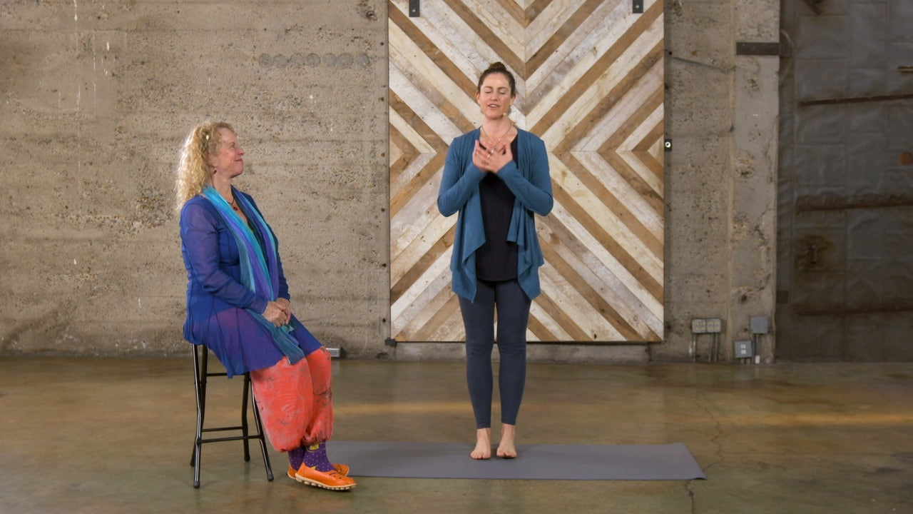Energy Medicine Yoga: Feeling Scrambled? Try a Modified Chair Pose to Promote Focus
