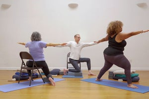 An Accessible Yoga Practice You Can Do In a Chair