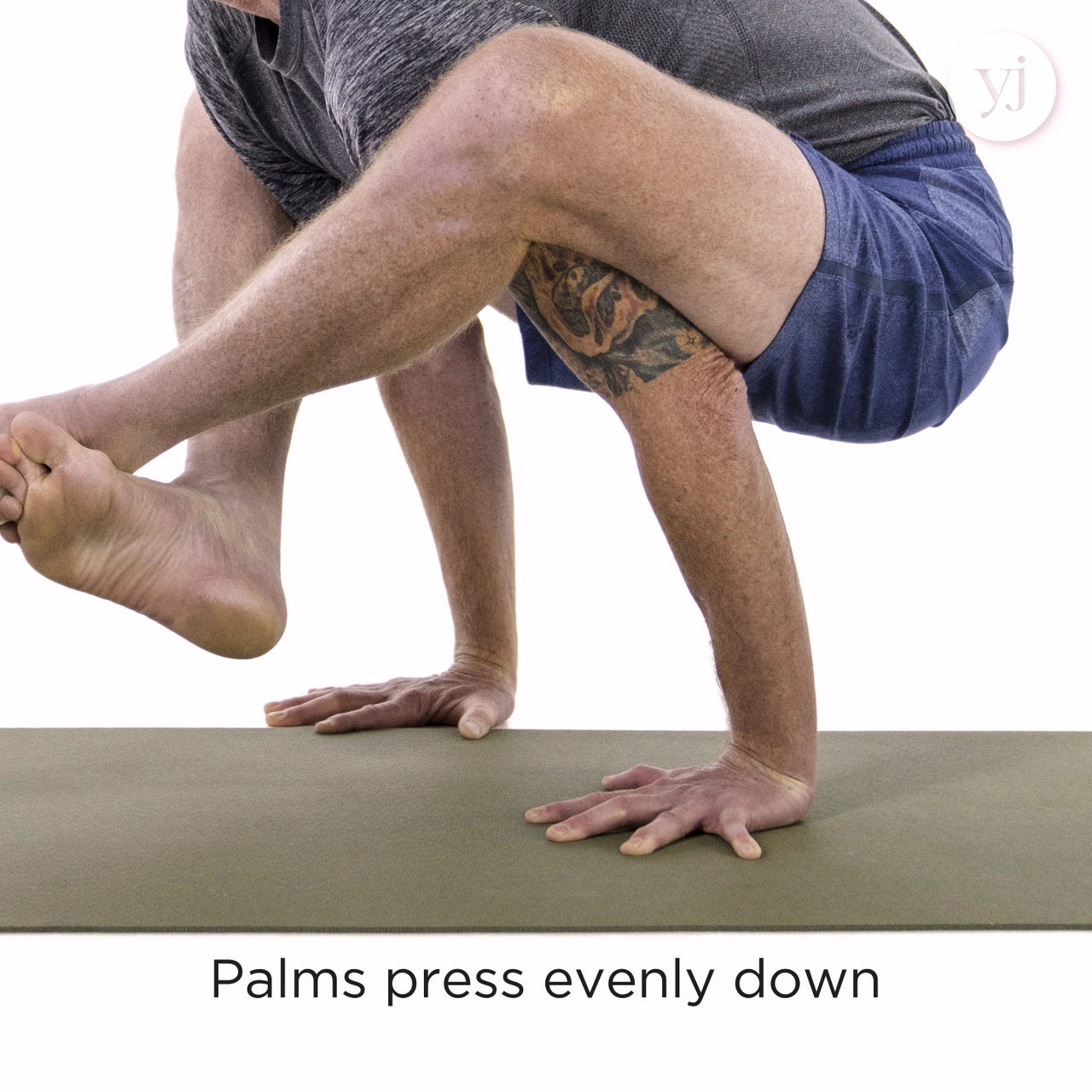 Shoulder Pressing Pose Bhujapidasana