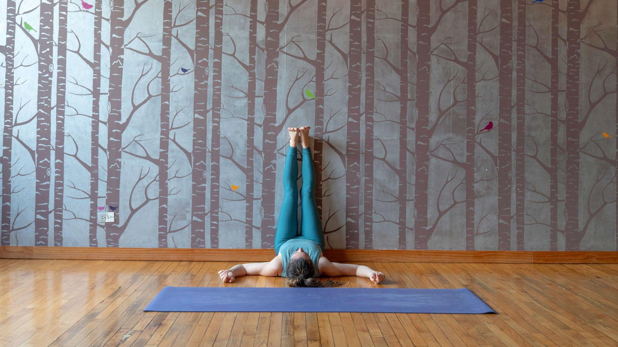 Relieve Stress with Legs up the Wall Pose Viparita Karani   Yoga ...
