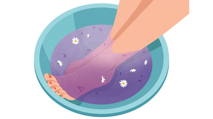 An illustration of a foot bath