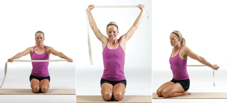 shoulder stretches with strap